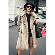 Women's Casual/Daily Simple Fur Coat,Soli...