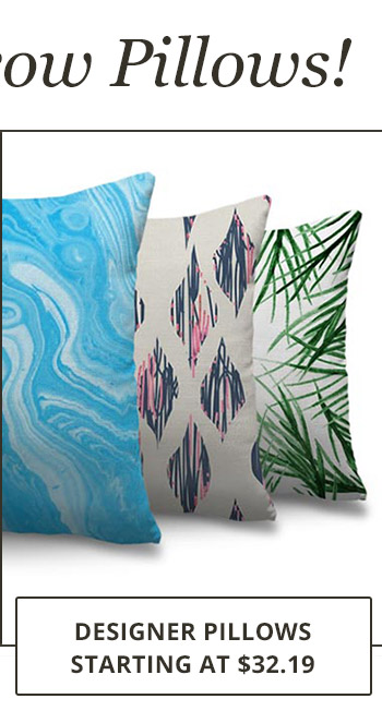 Designer Pillows starting at $32.19