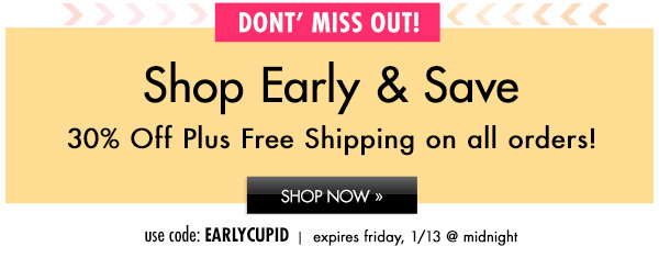 30% Off plus FREE Shipping! Shop Now »